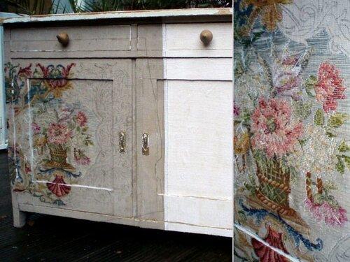 Реставрация мебели старыми картинами