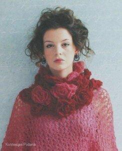 объмный шарф крючком - Выкройки одежды для детей и взрослых.