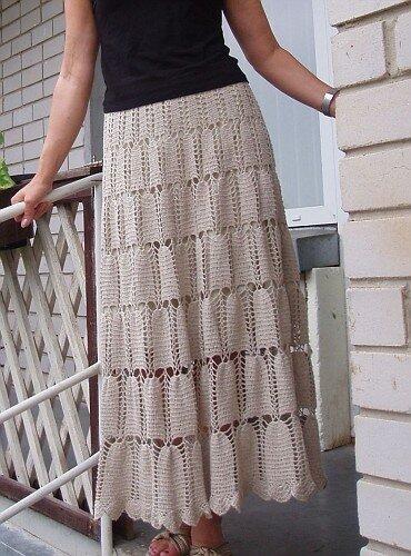 узоры крючком для юбки. узор колосок крючком для юбки.