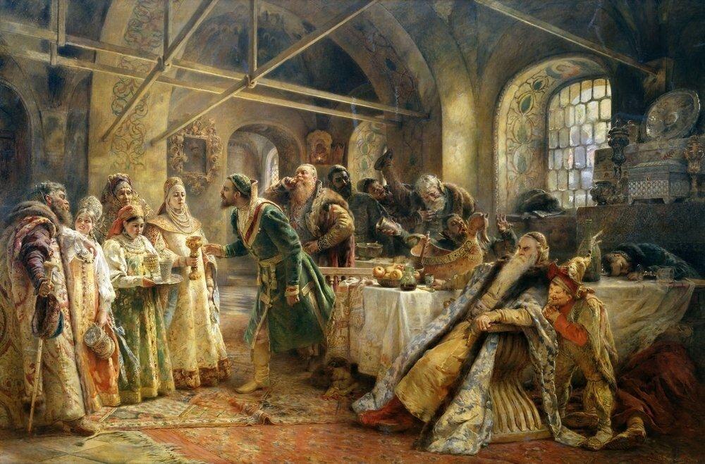 Константин Егорович Маковский.Боярский свадебный пир в XVII веке 1883