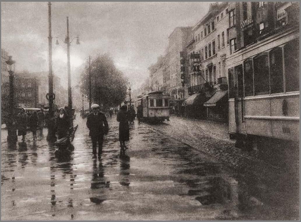 После небольшого дождя. 1930-е. Фотограф Леонард Миссон(1870 – 1943) Бельгия. Импрессионизм в фотографии.