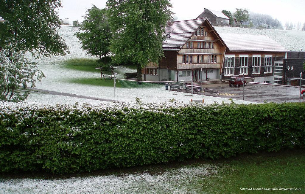 Снежный июнь в Швейцарии