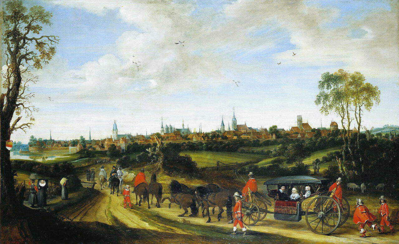 The entrance of Dutch envoy Adriaan Pauw into Münster, by Gerard ter Borch