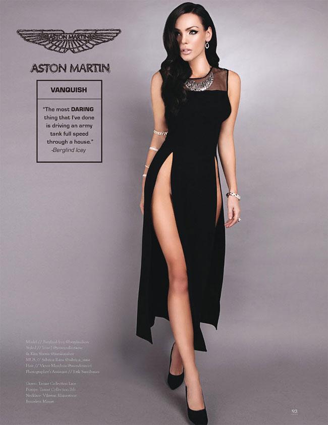 Aston Martin Vanquish. Модель Берглинд Айси.
