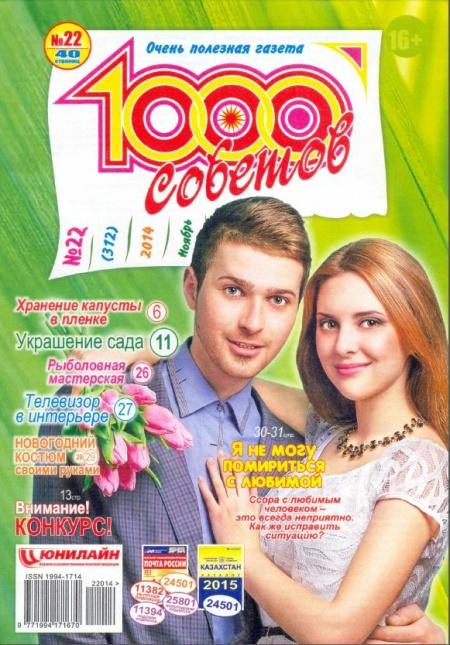 Книга Журнал: 1000 советов №22 ноябрь 2014