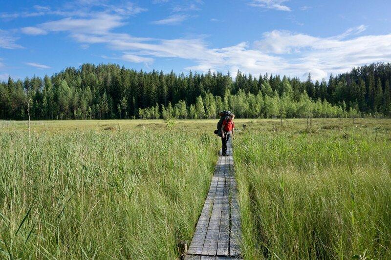 Aate-Pekan polku, Oronmylly, тропа через болото