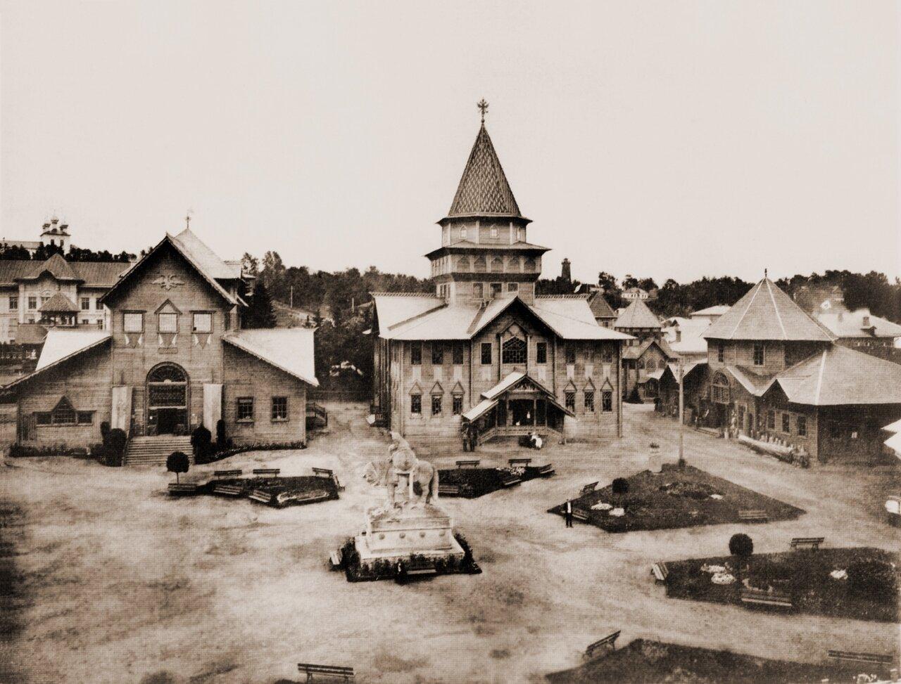 Панорама центральной площади выставки