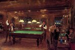 "Le BillardOil on panel55.3 x 37.4 cm(21.77"" x 14.72"")Private collection"