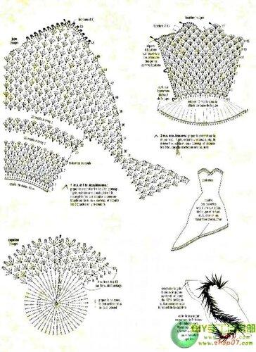 Схемы платья для барби крючком схемы