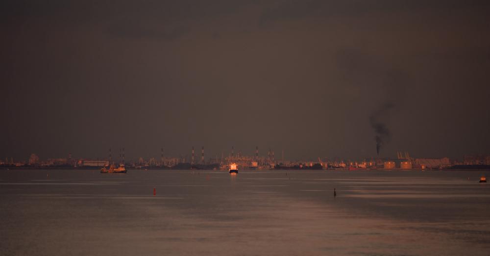 финский залив, вид на город Санкт-Петербург