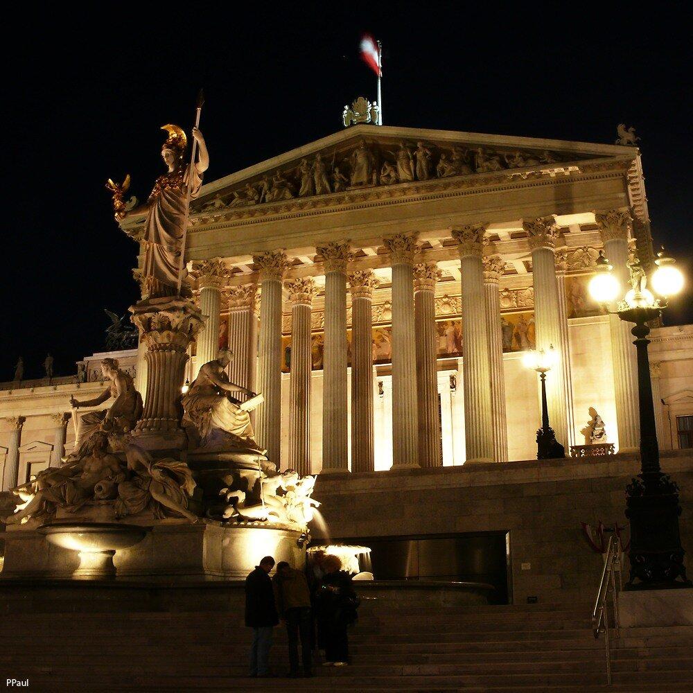 Ночной Парламент Австрии