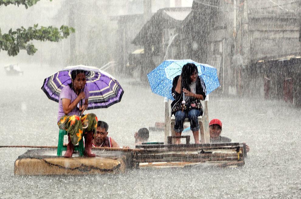 Филиппины, ливневые дожди, тайфун и наводнение. 1-го августа 2012-го года