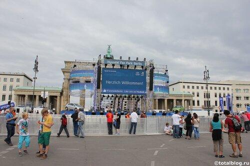 Финал Евро-2012 в фан-зоне Берлина