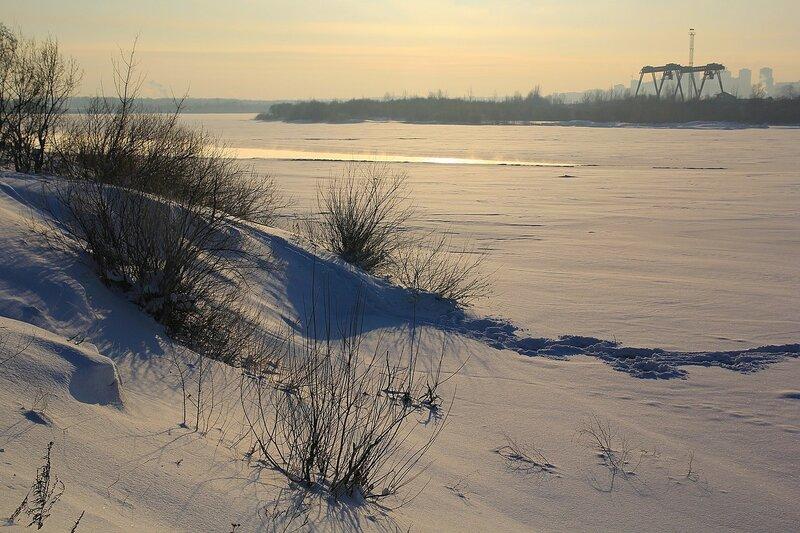 Застывшая река Вятка