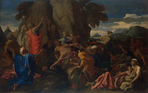 Моисей иссекающий воду из скалы.1649.jpg