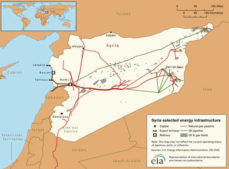 eia.gov: Сирия, 2015