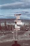 1941-09-26 Знаки для дома рафтинг lnsirannan перекресток. / Дорожные знаки. Примечание: Vrikuvien Брошюра информации. Изображение двух различных копий, с даты, отмеченной октября 1941 года. Место: Алакуртти (Salla)