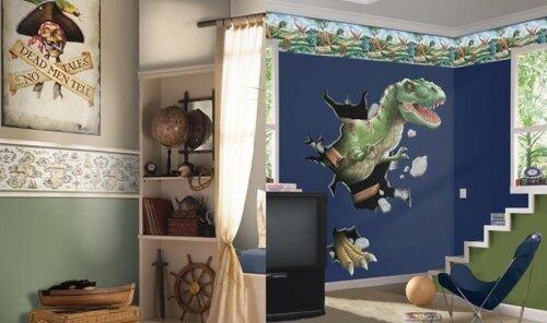 декор стен детской