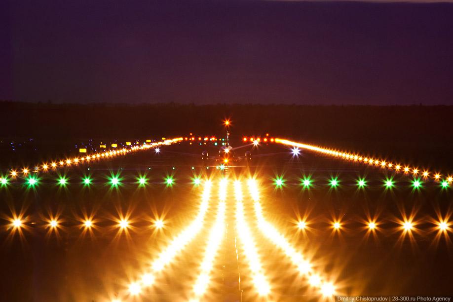 """Аэропорт  """"Домодедово """", освещение ВПП Photo Agency 28-300."""