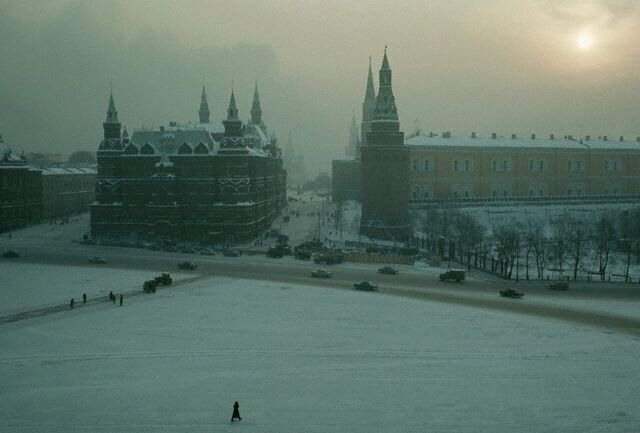 Museum and Kremlin in Snow