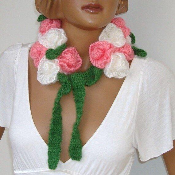 цветочные шарфы как вязать Пулково (Санкт-Петербург)