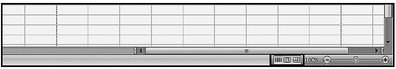 Рис. 1.23. Строка состояния документа со значками режимов