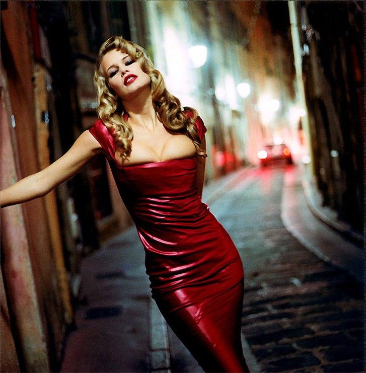 модель Клаудия Шиффер / Claudia Schiffer, фотограф Helmut Newton
