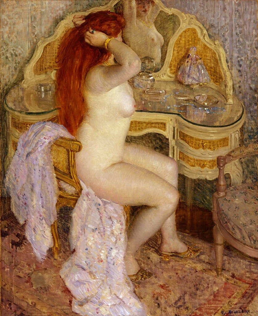 Frieseke, Frederick - Woman before a mirror - 1909