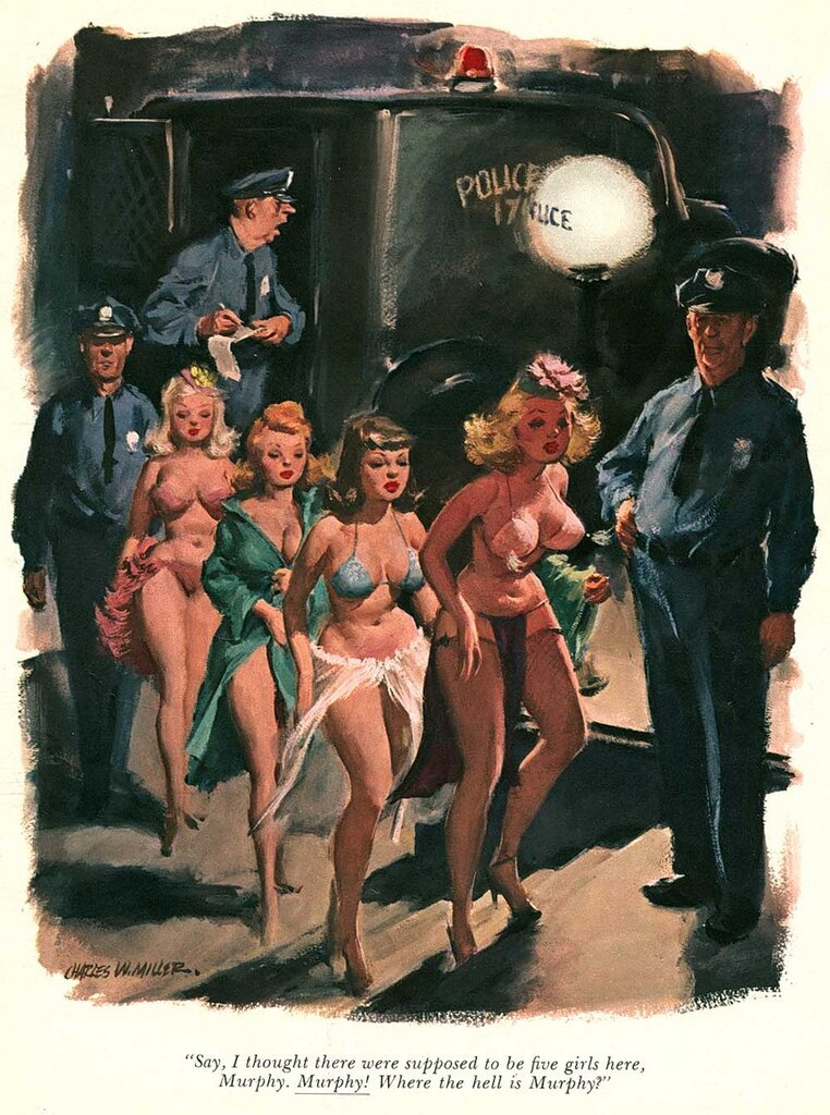 Playboy cartoon Charles W. Miller