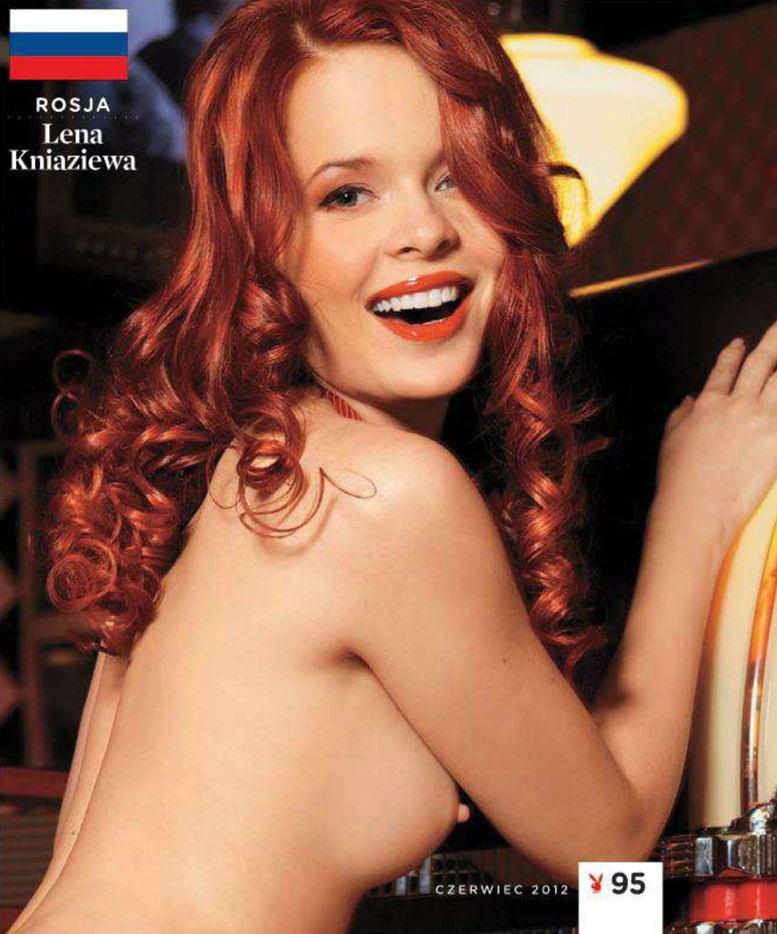 Страны-участницы Евро-2012 в журнале Playboy представляют его модели - Лена Князева - Россия / Плейбой Польша, июнь 2012