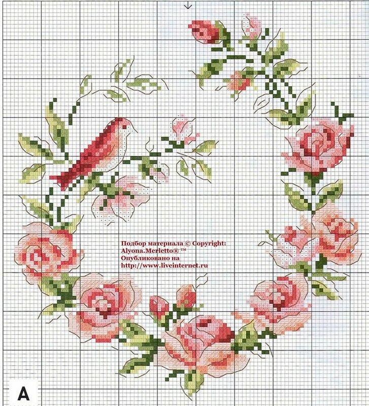 Схема вышивки бисером розы фото 941