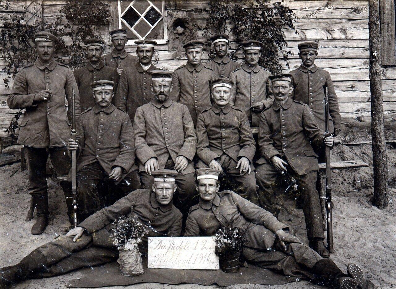 Landwehr artillerymen in Russia 1916