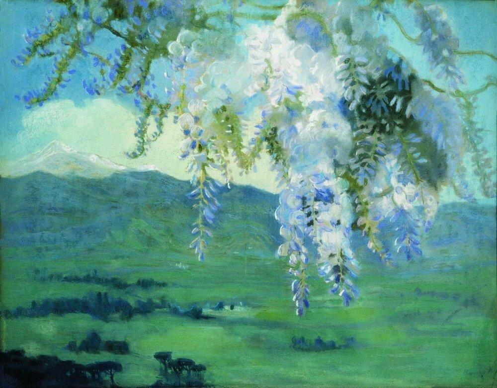 Цветущая глициния. 1912.jpg