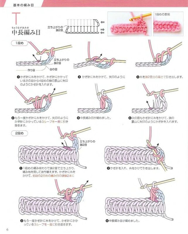 Пошаговая схема вязания крючком