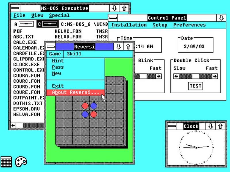 Следующая версия появилась уже 9 декабря 1987 года. Была улучшена графика, на рабочем столе появилис