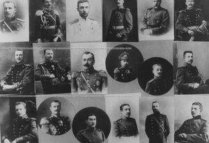 Портреты офицеров, ранее служивших в бригаде (отдельные фотографии - экспонаты исторического музея) - табло.