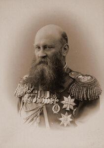 Барятинский Владимир Анатольевич (1843-1914) - князь, егермейстер Двора Его Величества (1883), генерал от инфантерии (1906), член Государственного Совета Российской империи. Портрет.
