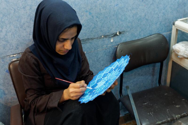 Исфахан. Мастерская эмали.
