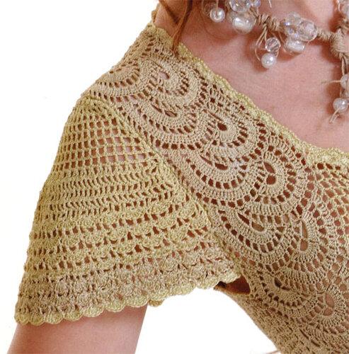 Вязание платье ленточным кружевом 75
