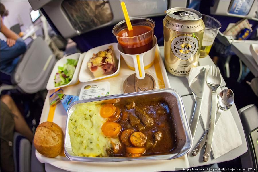 Еда и вода в самолет