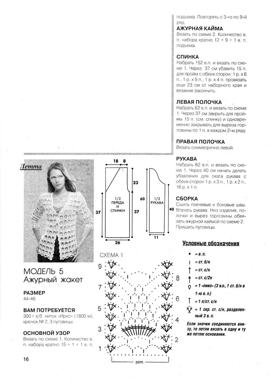 Кофты крючком схемы с описанием фото