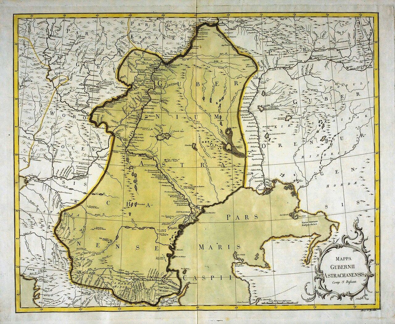 1750. Карта Астраханской губернии