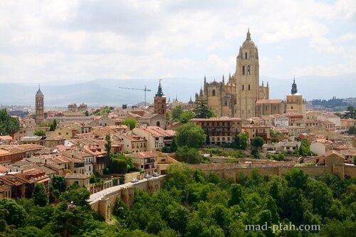 сеговия, испания, алькасар в сеговии