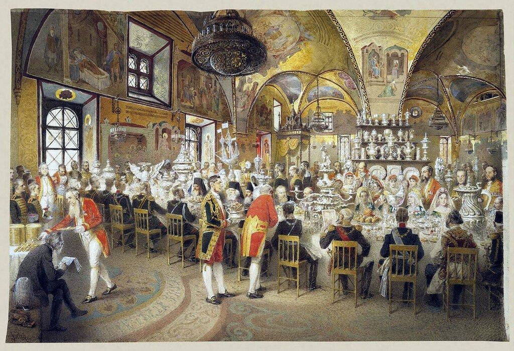 Михай Зичи - Торжественный обед в Грановитой палате, Эрмитаж