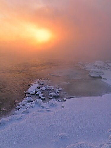 Сибирская зима.