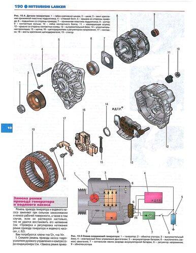 электросхема зарядки аккумулятора митсубиси каризма 2003