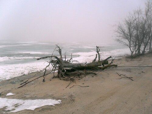 Льды на Ясенской косе. Велопоход 8.02.2011