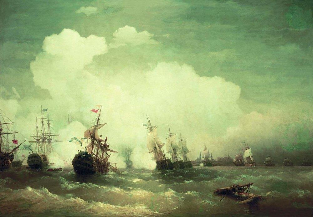 Морское сражение при Ревеле 2 мая 1790 года. 1846.jpg
