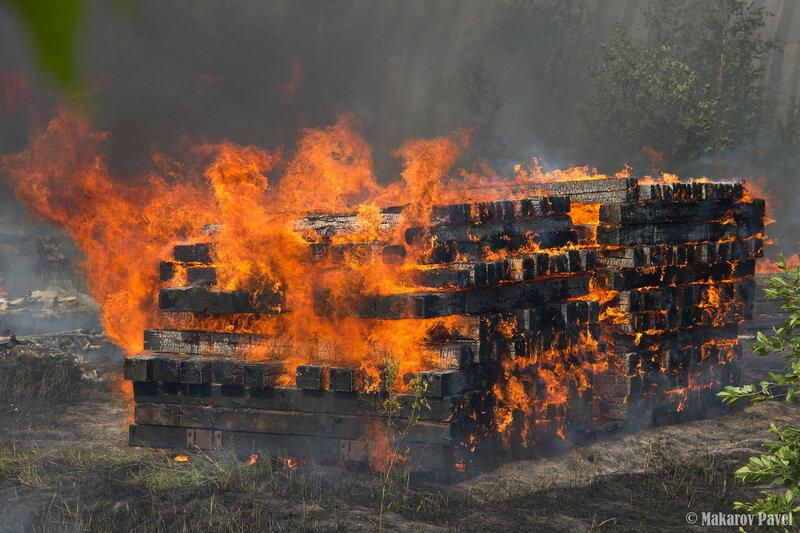 Пожар на территории ТЭЧ