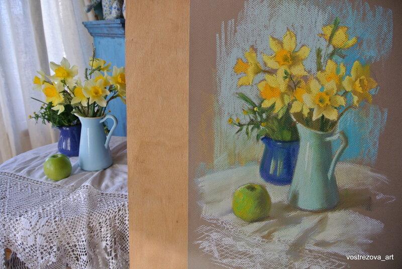 Как нарисовать картину пастелью для начинающих 5
